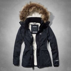 Abercrombie warm navy jacket